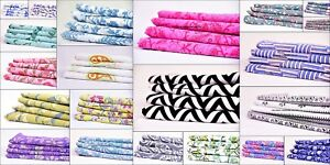 200 Meter Indian Floral Cotton Fabric Apparel Fabric Hand Block Print Sewing