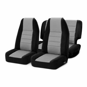 Smittybilt 471322 - Neoprene Charcoal Rear Front Seat Covers