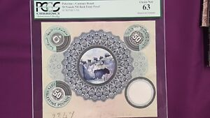 Palestine Currency Board composite essay proof  50 pounds  1926 RARE