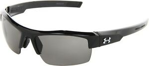 Under Armour Igniter Sunglass Shiny Black Frame Gray Lens Eye Protection Hunting