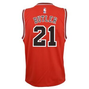 Jimmy Butler NBA Chicago Bulls Official Road Red Player Replica Jersey Youth