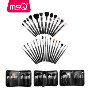 MSQ Make up Brushes 29pcs Pro Makeup Brush Set with Makeup Bag Case Natural Hair