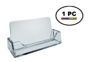 One Acrylic Plastic Business Card Holder T#x27;z Tagz Style Clear Display Stand $1.49