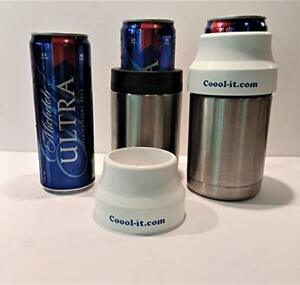 Michelob Ultra Slim Can ADAPTER ONLY, fits Yeti style Stainless koozie, coozie