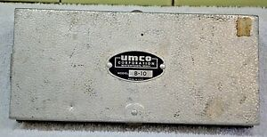 OLD VINTAGE ALUMINUM UMCO B-10 FISHING TACKLE BOX FULL OF VINTAGE LURES GEAR