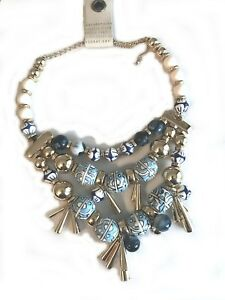 ANTHROPOLOGIE ALICE SPRINGS BIB NECKLACE -- NEW WITH TAG
