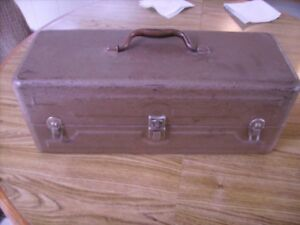 Old Metal Tackle Box Full of Tackle Lures Vintage