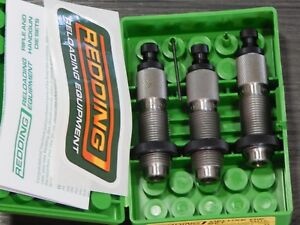 New Redding 224 Weatherby Magnum Deluxe 3Pc Die Set 84212 Sizer Expanding Bullet