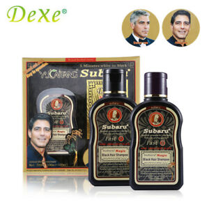2pc=1set Dexe Fast Black Hair Shampoo Chinese Herbal Medicine Non Silicone Oil