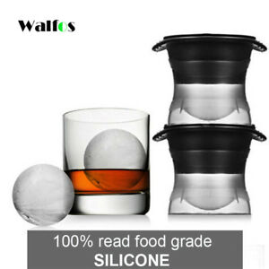 WALFOS FOOD GRADE 1  piece silicone Sphere Ice Molds Perfect Ice Ball Maker for