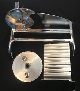 Vintage Rival Food Slicer Meat Cheese Manual Hand Crank with Lock Chrome