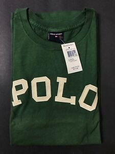 NEW OLD STOCK VINTAGE RALPH LAUREN POLO SPORT SPELLOUT TSHIRT GREEN XL SUPREME L
