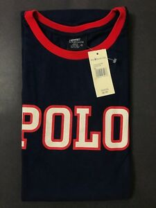 NEW OLD STOCK VINTAGE RALPH LAUREN POLO SPORT SPELLOUT TSHIRT NAVY XL SUPREME L