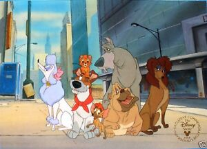 1996 DISNEY STORE LITHOGRAPH: OLIVER AND COMPANY 11