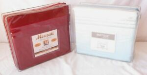TWIN 3PC SHEET SET 2 PACK $35 W/ FREE SHIPPING (LIGHT BLUE & BURGUNDY)