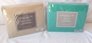TWIN 3PC SHEET SET 2 PACK $35 W/ FREE SHIPPING (GREEN & CEMENT)