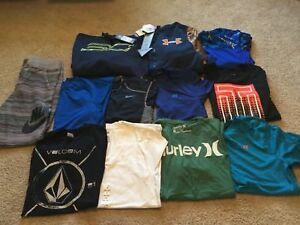 Mens Size Small Lot Of 12 Items! Under Armour Hoodies Nike Russell Etc! 5 NWT