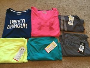 Under Armour Tshirts and Tank Tops - Lot Of 6 - Womens Size Xlarge - Loose - NWT