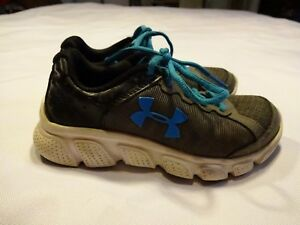Boys Under Armour athletic Shoes size 12 grayblue sneakers