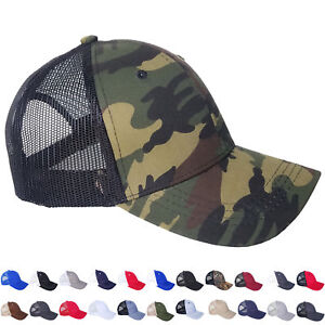Mesh Trucker Hat Cotton Solid Washed Polo Style Baseball Cap Visor Summer Men