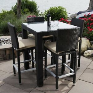 Madbury Road Ibiza All Weather Wicker Bistro Patio Dining Set Tan