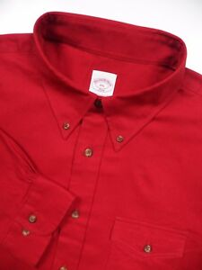 BROOKS BROTHERS MENS XXL CASUAL FLANNEL SPORT SHIRT STYLISH RED COTTON OUTDOORS