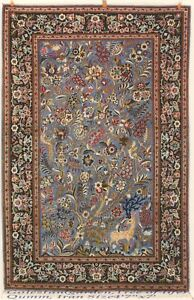 Persian Rug 2 Pre-Revolution Qum high quality wool with Persian silk flower