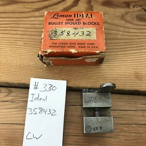 #330 Lyman Ideal 358432 .357 Mag & 38 Special Single Cavity Bullet Mould Mold