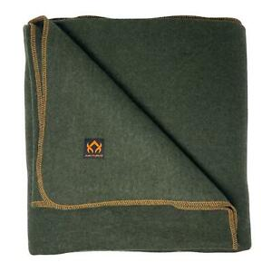 Arcturus Wool Blanket 4.5 lbs Warm Washable 64quot; x 88quot; Olive Green