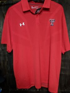 Under Armour Polo Heat Gear Loose Fit XXL NWT Texas Tech Red Raiders Rare Vented