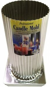 Yaley Professional Metal Candle Mold Mini Scallop Round 3' X 6-12'