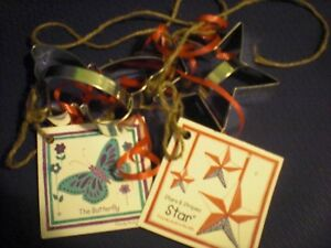 Lot of 2 Ann Clark Cookie Cutters Butterfly and Star NEW!