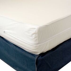 Waterproof Zippered Vinyl Mattress Cover Allergy Relief Bed Bug Hypoallergenic $15.29