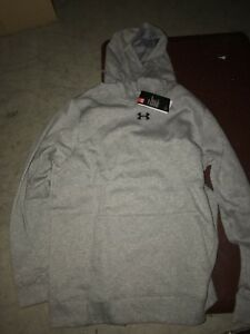 Under Armour Mens Cotton Hoodie Size XL Grey New With Tags