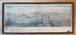 Antique Engraving - BUCK - The East Prospect of The City of Winchester - CA 1736