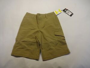 NEW Boys Youth Under Armour Match Play Shorts Golf Brown size 12 YMD Medium