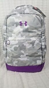 NWT NEW UNDER ARMOUR YOUTH GRAY CAMO STORM GYM FAVORITE BACKPACK BAG