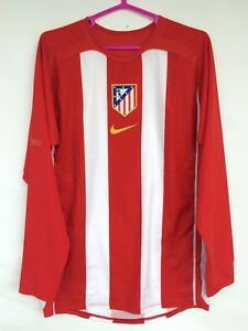 ATLETICO MADRID 2005 2006 NIKE HOME FOOTBALL SOCCER SHIRT PLAYER ISSUE JERSEY