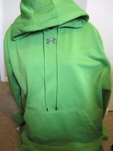 NWT Under Armour Mens Hoodie Cold Gear Lime Green XL XLARGE NEW Loose