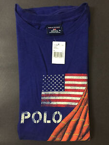NEW OLD STOCK VINTAGE RALPH LAUREN POLO SPORT FLAG ROPE TSHIRT XL SUPREME L XXL