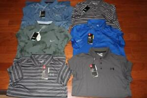 LOT 6 UNDER ARMOUR HEATGEAR NIKE DRI-FIT MENS GOLF POLO SHIRTS $320+ SMALL NWT