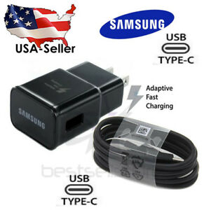 Original Samsung Galaxy S9 S8plus Note 8  Fast OEM Wall Charger + Type C -CABLE