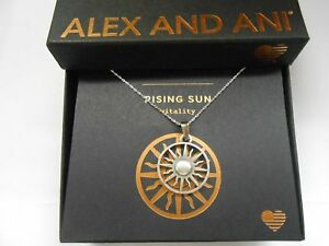 Alex and Ani Rising Sun Expandable Necklace Rafaelian Silver NWTBC