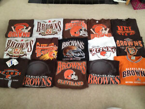 LOT 25 VTG CLEVELAND BROWNS Pre 1996 Sweatshirts T shirt Sports Mens Various SZ