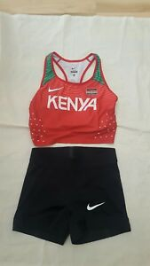 Nike Elite Pro KENYA Team Women's Bra & shorts Track Field Running Medium RARE
