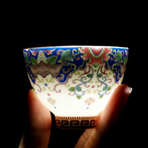 boutique tea cup with coaster Chinese Jingdezhen town porcelain cup saucer new