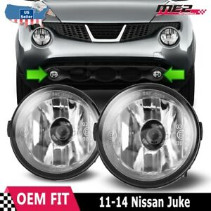 For Nissan Juke 11 14 Factory Bumper Replacement Fit Fog Lights DOT Clear Lens