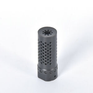 223 Muzzle Brake Compensator 5.56 1 2x28 Pitch Thread CNC Steel With Washer Nut