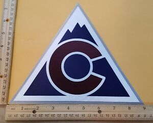 HUGE COLORADO AVALANCHE IRON-ON PATCH - 7.5