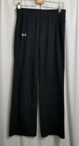 Under Armour Athletic Pants Women's Small S Black Track Running Yoga